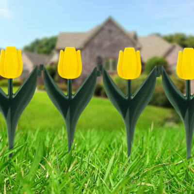 Virágágyás szegély (sárga tulipánokból, 4 darabos csomag)