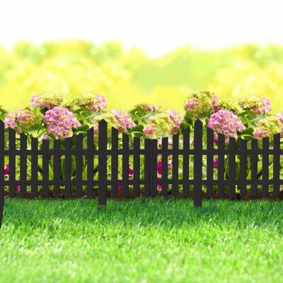 Virágágyás szegély / kerítés (60 x 23 cm, fekete)