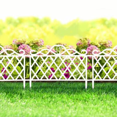 Virágágyás szegély / kerítés (45 x 35 cm, fehér)