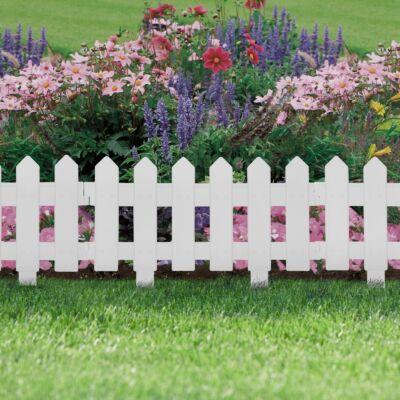 Virágágyás szegély / kerítés (40,5 x 29,5 cm, fehér)