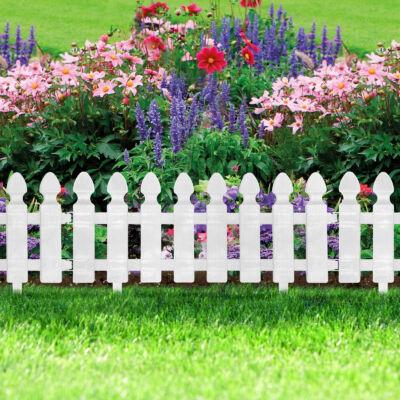 Virágágyás szegély / kerítés (51 x 30 cm, Fehér)