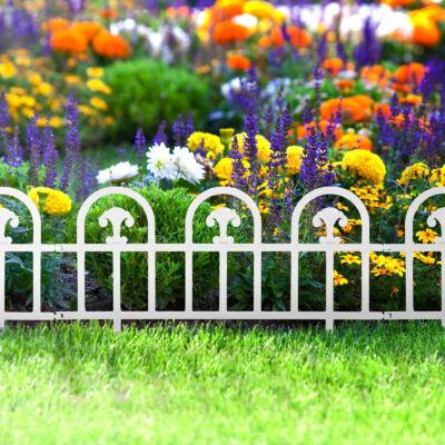 Virágágyás szegély / kerítés (60 x 30 cm, fehér)