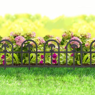 Virágágyás szegély / kerítés (60 x 30 cm, fekete)