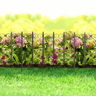 Virágágyás szegély / kerítés (61 x 30 cm, fekete)