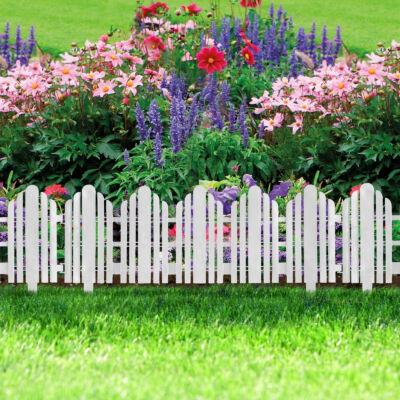 Virágágyás szegély / kerítés (56 x 20 cm, fehér)