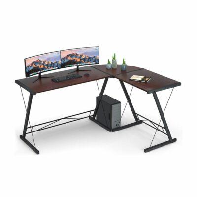 L alakú íróasztal (sötétbarna)