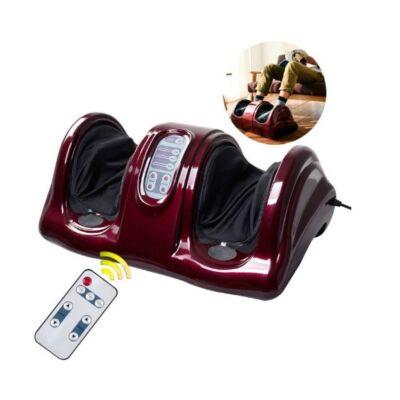 Elektromos lábmasszírozó távirányítóval (burgundy)