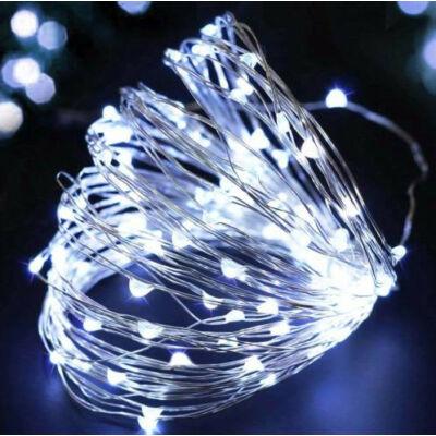 5 méteres Micro LED-es elemes fényfűzér (Hideg fehér)