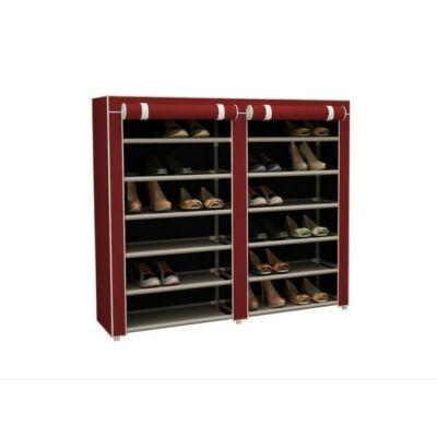 Mobil cipőtároló szekrény (bordó)