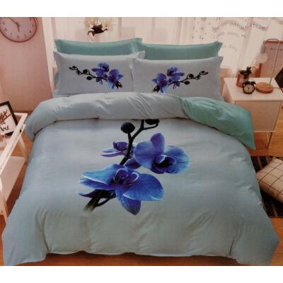 7 részes Sendia ágyneműhuzat garnitúra 3D virágos mintával (kék virággal)