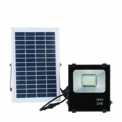 Napelemes LED reflektor (PIR, 20W)