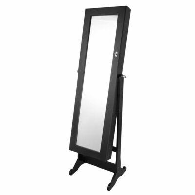 Tükrös ékszertartó szekrény (fekete)